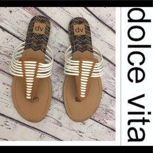 ☀️Dolce Vita Slip On Strappy Flat Sandals☀️9 1/2